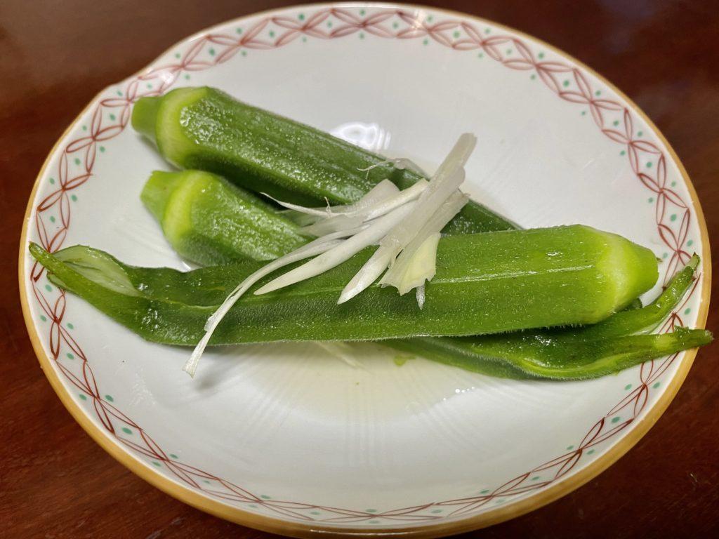 無農薬野菜のミレーのオクラ
